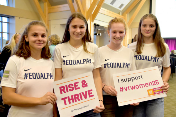 EqualPay girls at VWF event
